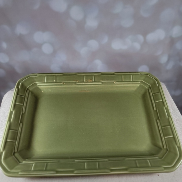 Longaberger Woven Traditions Pottery Sage Tray